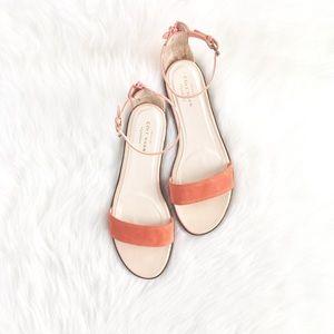 """Cole Haan """"Balencia"""" Tangerine Blush Suede Sandals"""